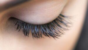 model wearing beautiful lash extensions
